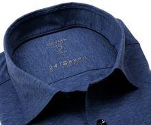 Koszula Olymp Level Five 24/Seven – niebieska elastyczna w jasnoniebieską siateczkę