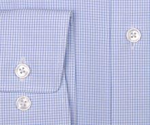 Koszula Olymp Luxor Modern Fit - w jasnoniebieską krateczkę - extra długi rękaw