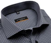 Koszula Eterna Slim Fit - z czarno-szarym wzorem