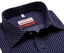 Koszula Marvelis Modern Fit - granatowa z czerwono-biało-niebieskim wzorem