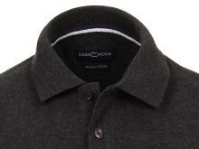 Koszulka polo Casa Moda - czarno-szara z kołnierzykiem
