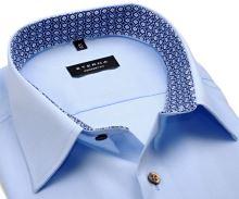 Koszula Eterna Comfort Fit Chambray – jasnoniebieska z stójką wewnętrzną – extra długi rękaw