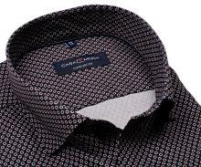 Koszula Casa Moda Comfort Fit Premium – luksusowa ciemnoniebieska w czerwone pierścienie - super długi rękaw