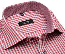 Koszula Eterna Comfort Fit – w czerwono-niebieską kratkę - krótki rękaw