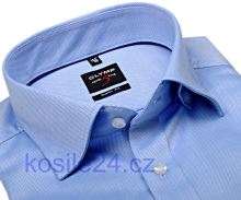 Luksusowa koszula Olymp Level Five Diamant Twill – jasnoniebieska z delikatną strukturą