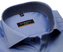 Koszula Eterna Slim Fit Super Stretch – niebieska ze stójką wewnętrzną i mankietem