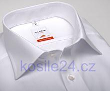 Koszula Olymp Luxor Modern Fit Uni Popeline - biała - skrócony rękaw