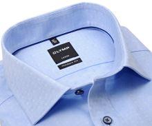 Koszula Olymp Modern Fit – jasnoniebieska z unikatowym wyszytym wzorem - extra długi rękaw