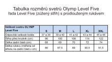 Sweter Olymp Level Five wełny merino z domieszką jedwabiu - granatowy - dekolt w serek