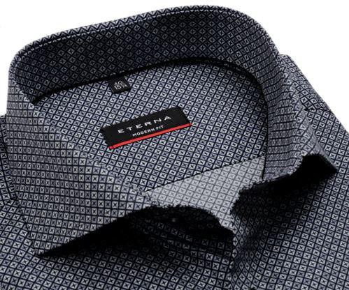 Koszula Eterna Modern Fit - z czarno-szarym wzorem