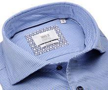 Koszula Eterna Slim Fit 1863 Super Soft Two Ply - luksusowa z niebieskim wzorem