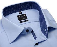 Koszula Olymp Comfort Fit – jasnoniebieska z wewnętrzną stójką i mankietem - extra długi rękaw