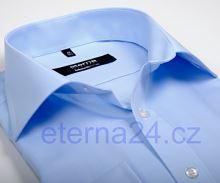 Koszula Eterna Comfort Fit Uni Popeline - jasnoniebieska