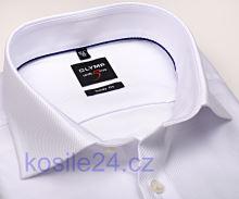 Koszula Olymp Level Five Diamant Twill – luksusowa biała ze strukturą - extra długi rękaw