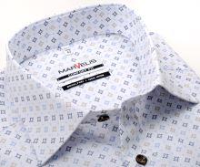 Koszula Marvelis Comfort Fit – biała w beżowo-niebieski wzór