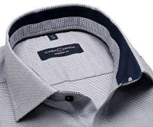 Koszula Casa Moda Modern Fit - granatowo-biała z ciemnoniebieską wewnętrzną stójką
