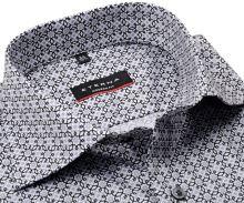 Koszula Eterna Modern Fit Twill - luksusowa z czarno-szarymi ornamentami