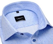 Koszula Venti Modern – designerska jasnoniebieska w nadrukowany wzór