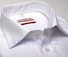 Koszula Marvelis Modern Fit Uni - biała z krótkim rękawem