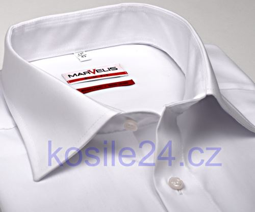 Koszula Marvelis Modern Fit Uni - biała - extra długi rękaw
