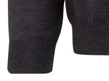 Sweter Olymp z wełny Merino - dekolt typu V - w kolorze antracytowym