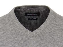 Bawełniany sweter Casa Moda - szary