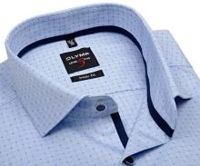 Koszula Olymp Level Five – jasnoniebieska z wyszytą krateczką - extra długi rękaw