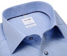 Koszula Olymp Comfort Fit – jasnoniebieska z wyszytą krateczką - extra długi rękaw