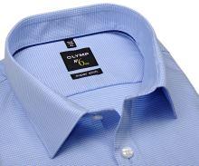 Koszula Olymp Super Slim – jasnoniebieska z wyszytym wzorem