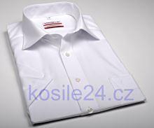 Koszula Marvelis  Comfort Fit Uni - biała z krótkim rękawem