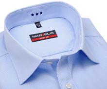 Koszula Marvelis Body Fit Uni – biała w jasnoniebieskie paski