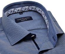 Koszula Casa Moda Modern Fit – niebieska z delikatną strukturą i designerską stójką wewnętrzną