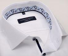 Koszula Casa Moda Modern Fit – biała z delikatną strukturą i designerską stójką wewnętrzną