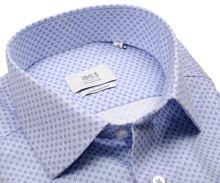 Koszula Eterna 1863 Comfort Fit Two Ply NEVER IRON - luksusowa z młodzieżowym niebieskim wzorem