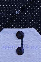 Koszula Eterna Comfort Fit Fine Oxford – jasnoniebieska z granatowym kołnierzykiem wewnętrznym, mankietami