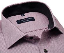 Koszula Casa Moda Comfort Fit Premium – czerwona ze strukturą i kołnierzykiem wewnętrznym - extra długi rękaw