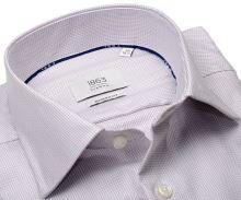 Koszula Eterna 1863 Modern Fit Two Ply - luksusowa z delikatnym wzorem w kolorze wina