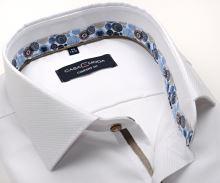 Koszula Casa Moda Comfort Fit Premium – biała z designerską stójką wewnętrzną i mankietem