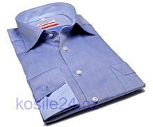 Luksusowa koszula Marvelis Modern Fit – niebieska ze strukturą, kołnierzykiem i mankietami