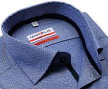 Koszula Marvelis Modern Fit – niebieska z wyszytym wzorem w romby