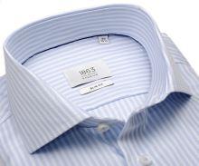 Koszula Eterna 1863 Slim Fit Two Ply – ekskluzywna z jasnoniebieskim wplecionym paskiem