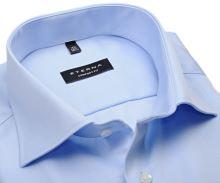 Koszula Eterna Comfort Fit Twill Cover - jasnoniebieska luksusowa i nieprześwitująca