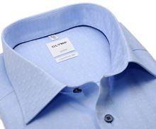 Koszula Olymp Comfort Fit – jasnoniebieska z unikatowym wyszytym wzorem - extra długi rękaw