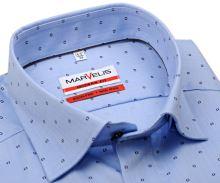 Koszula Marvelis Modern Fit – jasnoniebieska w jodełkę z delikatnym wzorem
