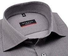 Koszula Eterna Modern Fit - szara w sześciokąty
