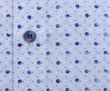 Koszula Olymp Level Five – jasnoniebieska w kropki - krótki rękaw
