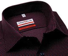 Koszula Marvelis Modern Fit - granatowa z czerwono-białym nadrukowanym wzorem