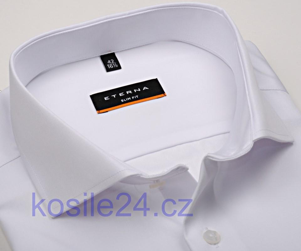 Koszula Eterna Slim Fit Twill Cover luksusowa w kolorze białym, nieprześwitująca