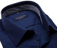 Koszula Casa Moda Comfort Fit Premium – granatowa z niebiesko-fioletową stójką wewnętrzną