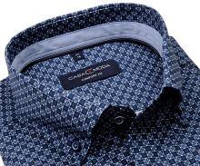 Koszula Casa Moda Comfort Fit – w niebiesko-biały wzór z jasnooniebieską wewnętrzną stójką i mankietem